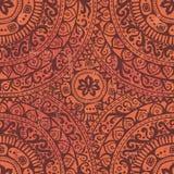 Hand drawn   shabby   ethnic  mandalas seamless pattern Royalty Free Stock Photos