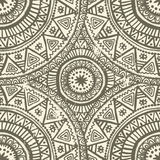 Hand drawn shabby indian  seamless pattern Stock Images