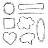 Hand Drawn Shapes Royalty Free Stock Photo