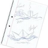 Hand drawn ship Royalty Free Stock Photography