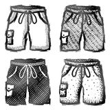 Hand drawn shorts with pocket Royalty Free Stock Photography