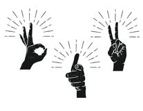 Hand drawn sign for communication from the fingers. Royalty Free Stock Images