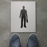Hand drawn silhouette businessman icon Stock Image