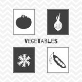 Hand drawn silhouettes. Vegetables posters Royalty Free Stock Photo