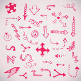 Hand drawn simple arrows set made in vector Stock Fotografie