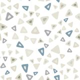 Hand drawn simple triangle seamless pattern on white background. vector illustration