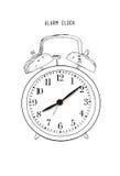 Hand drawn sketch alarm clock.Vector. Hand drawn sketch alarm clock  on white background Royalty Free Stock Image