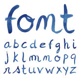 Hand drawn sketch alphabet. Handwritten font Royalty Free Stock Images