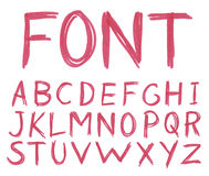 Hand drawn sketch alphabet. royalty free stock photo