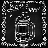Hand drawn sketch of beer Royalty Free Stock Image