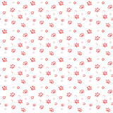 Hand drawn Sketch cats paw and traces seamless pattern, Vector Illustration Elements isolated on white background Royalty Free Stock Photo