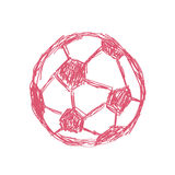 Hand drawn sketch doodle of a football icon Royalty Free Stock Image