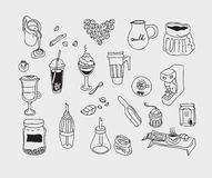 Hand drawn sketch doodle vintage simple coffee Royalty Free Stock Image