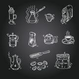 Hand drawn sketch doodle vintage simple coffee Stock Image