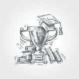 Hand drawn sketch education, school. vector Royalty Free Stock Images