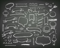 Hand drawn sketch hand drawn elements. Vector. Chalkboard illustration royalty free illustration
