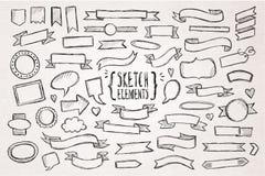 Hand drawn sketch hand drawn elements Stock Photo