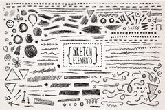 Hand drawn sketch hand drawn elements Stock Images