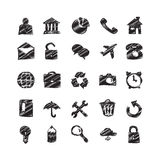 Hand Drawn Sketch Icons Royalty Free Stock Photography