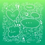 Hand drawn sketch illustration - Speech Bubbles Stock Photos
