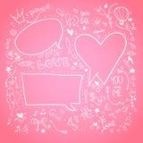 Hand drawn sketch illustration - Speech Bubbles. Love Stock Photos