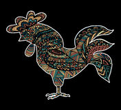 Hand drawn sketch in the shape of a rooster Royalty Free Stock Photo