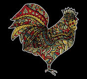 Hand drawn sketch in the shape of a rooster Royalty Free Stock Photos