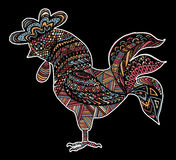 Hand drawn sketch in the shape of a rooster Royalty Free Stock Images