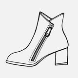 Hand-drawn in sketch style. Shoe, hand-drawn in sketch style. Vector illustration of a shoe Stock Photos