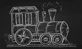 Hand Drawn Sketch train, Vector Illustration Royalty Free Stock Photography