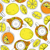 Hand drawn sketch vector tea set Royalty Free Stock Images