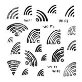 Hand drawn sketch Wi-Fi icon Stock Images