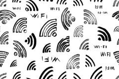 Wi-fi vector seamless pattern royalty free stock images