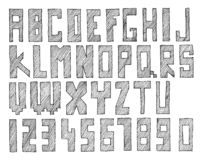 Sketched abc. Hand drawn and sketched abc, font, alphabet vector illustration