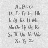 Hand drawn and sketched font, vector sketch style alphabet. Stock Photography