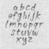 Hand drawn and sketched font, vector sketch style alphabet. Royalty Free Stock Photos