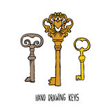 Hand-drawn sketches of the keys Royalty Free Stock Image