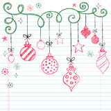 Hand-Drawn Sketchy Doodle Christmas Ornament Stock Photography