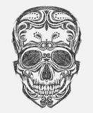 Hand drawn skull stock illustration