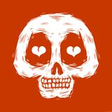 Hand drawn skull doodle Royalty Free Stock Photography