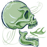 Hand Drawn Skull illustration side view Stock Photo