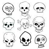 Hand Drawn Skull Set Royalty Free Stock Image
