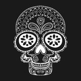Hand drawn Skull in zentangle style, tribal totem for tattoo, ad Stock Photos