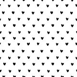 Hand drawn small hearts seamless pattern vector stock illustration