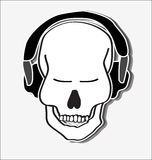 Groovy skull Royalty Free Stock Photography