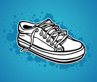 A hand drawn sneaker Royalty Free Stock Photography