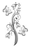 Hand drawn snowdrop illustration Stock Images