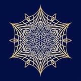 Hand-drawn snowflake doodles, μεταλλική κλίση χρώματος Στοκ Εικόνες