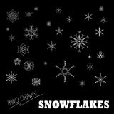 Hand drawn snowflake vector set Stock Photography