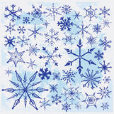 Hand drawn snowflakes Stock Photo